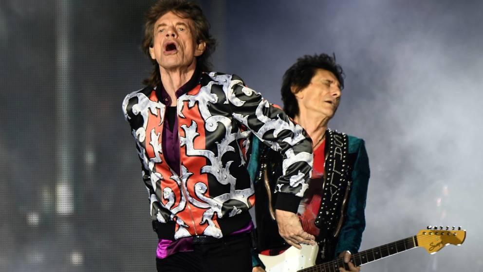 Mick und Ronnie von den Rolling Stones
