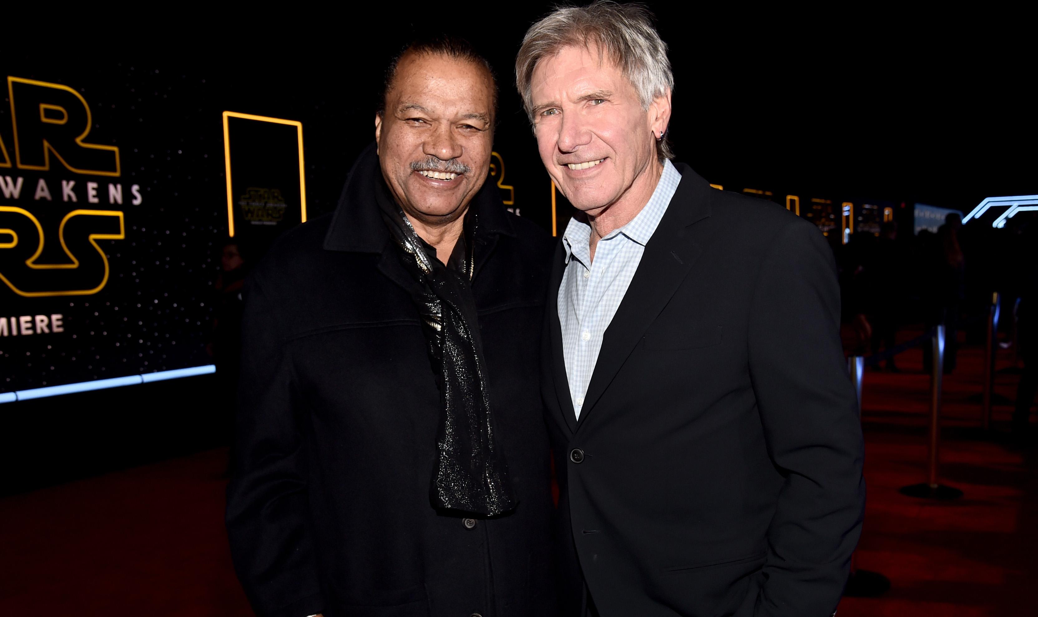 Zwei Haudegen unter sich: Billy Dee Williams und Harrison Ford