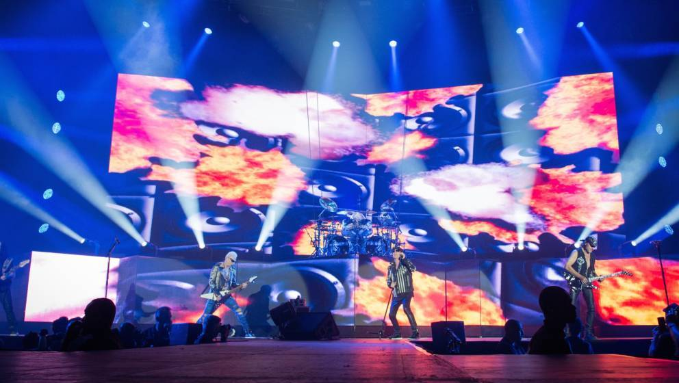 PARIS, FRANCE - JUNE 26:  General view from Scorpions Show at AccorHotels Arena on June 26, 2018 in Paris, France.  (Photo by