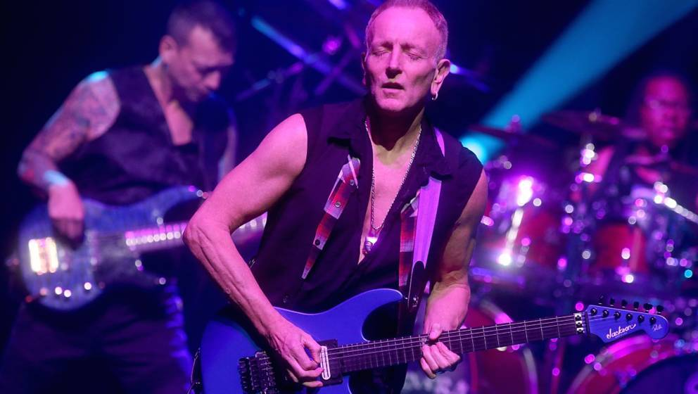 AUSTIN, TEXAS - JANUARY 27:  Phil Collen performs in concert with G3 at ACL Live on January 27, 2018 in Austin, Texas.  (Phot