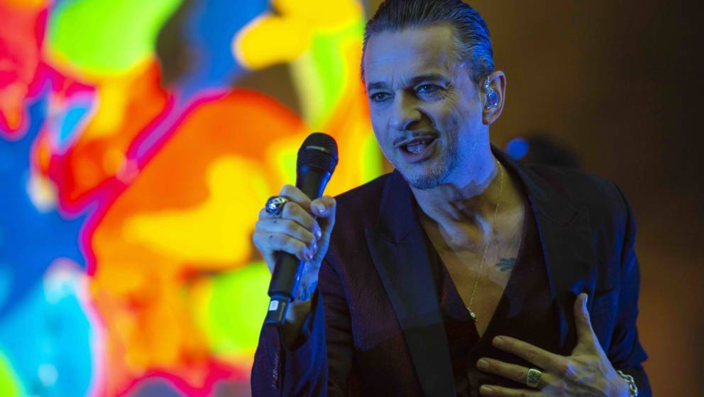 CUNEO, ITALY - JULY 02:  Dave Gahan of Depeche mode performs on stage at Collisioni Festival on July 2, 2018 in Barolo, Cuneo