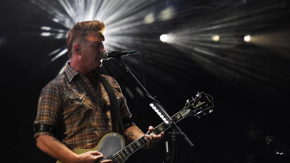 US singer of Queens of the Stone Age band, Josh Homme, performs on stage during the 30th Eurockeennes rock music festival on