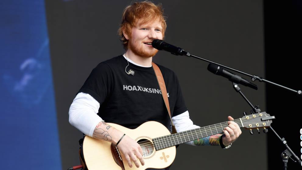 SWANSEA, WALES - MAY 26:  Ed Sheeran performs during day 1 of BBC Radio 1's Biggest Weekend 2018 held at Singleton Park on Ma