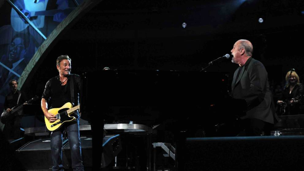 performs on stage for the 25th Anniversary Rock & Roll Hall of Fame Concert at Madison Square Garden on October 29, 2009