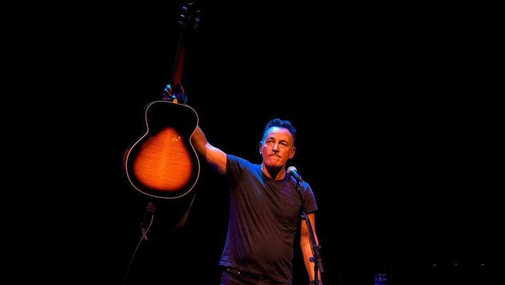 NEW YORK, NY - OCTOBER 12:  Bruce Springsteen performs onstage during 'Springsteen On Broadway' at Walter Kerr Theatre on Oct