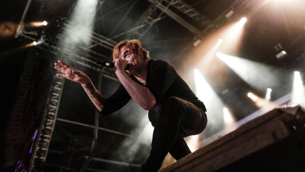 German singer Campino of 'Die Toten Hosen' performs at the 'Voices of Refugees' benefit festival organized to support refugee