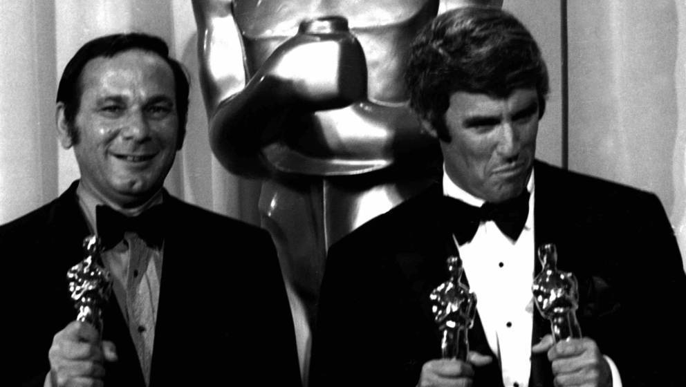 LOS ANGELES, CA - APRIL 7:  Hal David and Burt Bacharach attends 42nd Annual Academy Awards on April 7, 1970 at the Dorothy C