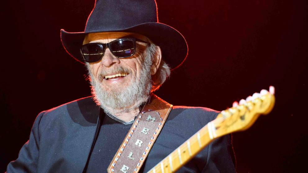 INDIO, CA - APRIL 24:  Musician Merle Haggard performs onstage during day one of 2015 Stagecoach, California's Country Music
