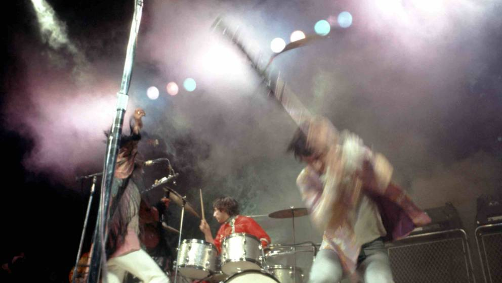 MONTEREY, CA - JUNE 18: Singer Roger Daltrey, bassist John Entwistle, guitarist Pete Townshend and drummer Keith Moon the roc