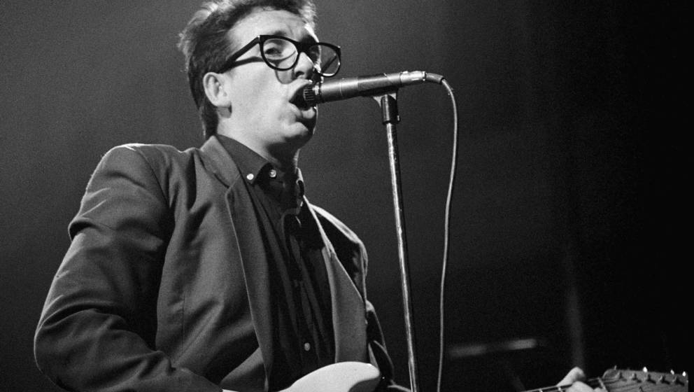AMSTERDAM, NETHERLANDS - APRIL 19: Elvis Costello performs live at Paradiso in Amsterdam, Netherlands on April 19 1980 (photo