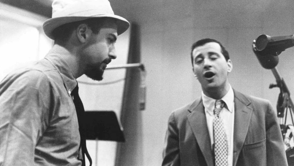 NEW YORK - CIRCA 1956:  Rock and roll songwriters Jerry Leiber (right) and Mike Stoller work out a tune in circa 1956 in New