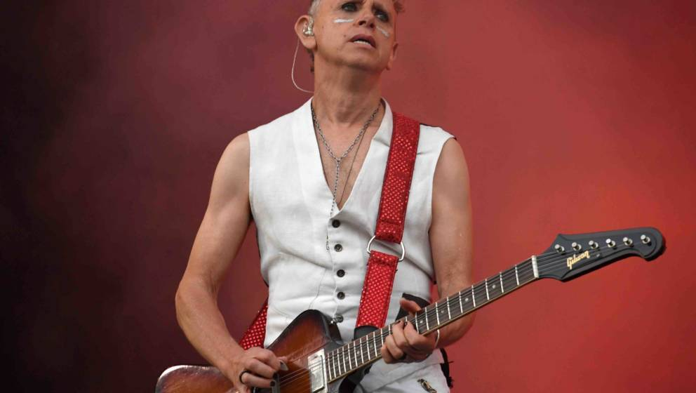 Depeche Mode's British guitarist Martin Gore performs on the first day of the 27th edition of the musical festival 'Les Vieil