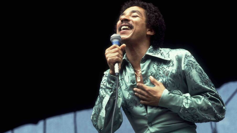 American singer Smokey Robinson performs onstage at Soldier Field, Chicago, Illinois, July 18, 1980. (Photo by Paul Natkin/Ge