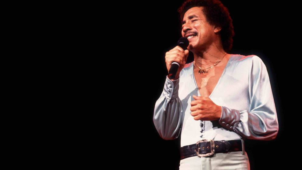 American singer Smokey Robinson performs onstage at the Holiday Star Theater, Merrillville, Indiana, July 28, 1982. (Photo by
