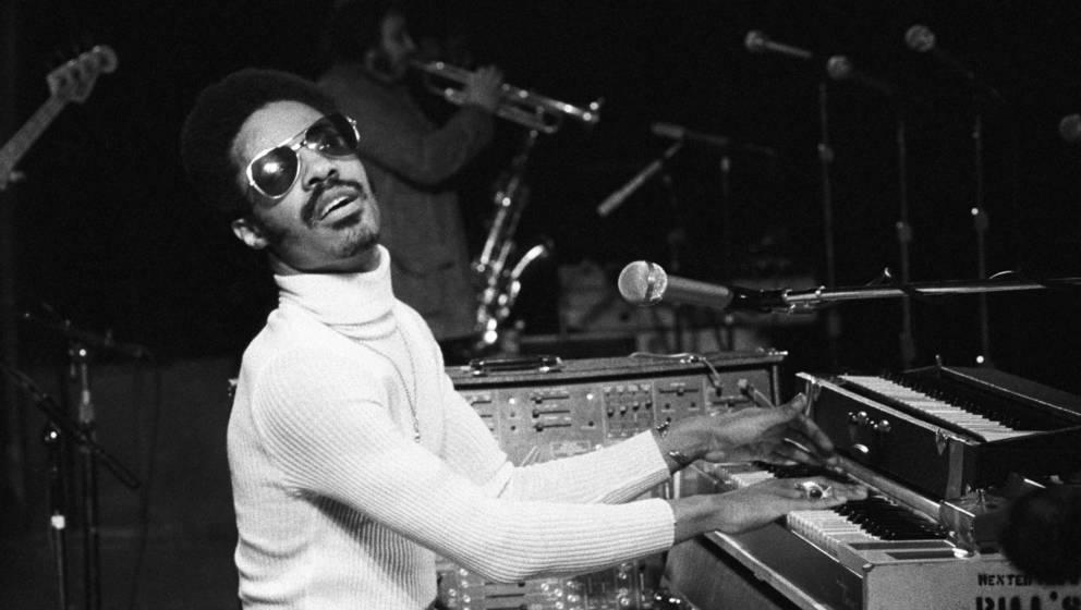 NEW YORK - MARCH 25: Stevie Wonder performing at Madison Square Garden in New York City on March 25, 1974. (Photo by Waring A