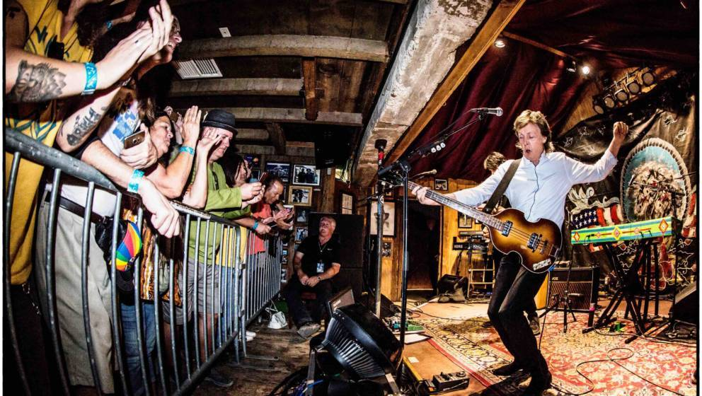 PIONEERTOWN, CA - OCTOBER 13:  In this handout photo provided by MPL Communications, Sir Paul McCartney performs at a sold ou
