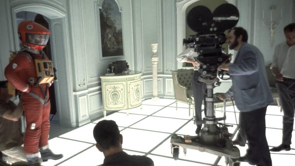 """Stanley Kubrick am Set von """"2001 - Odyssee im Weltraum"""""""