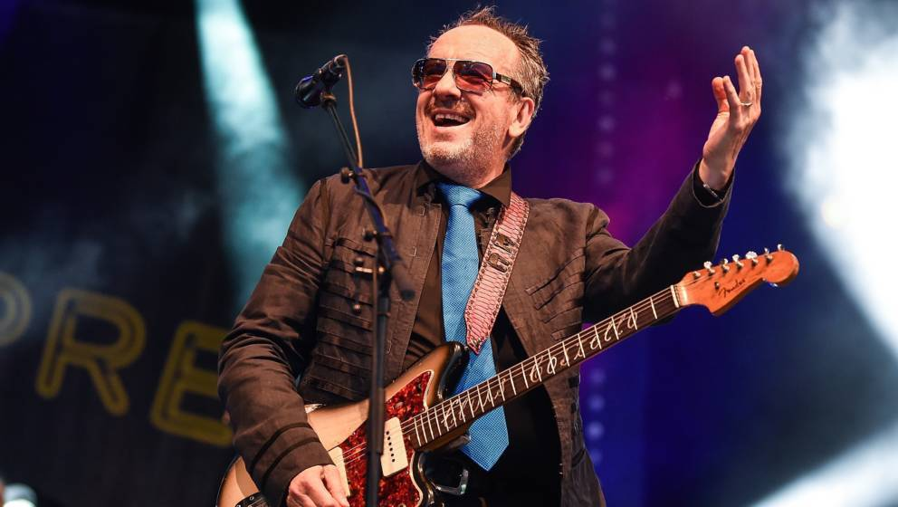 BRIGHTON, ENGLAND - JUNE 30:  Elvis Costello & The Imposters headline the Main Stage on day 2 of Love Supreme Festival on