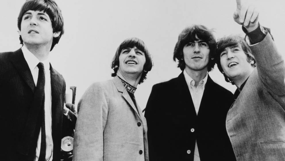 UNITED KINGDOM - AUGUST 01:  Portrait Of The Beatles Between Their Departure For The America At London In England On August 1