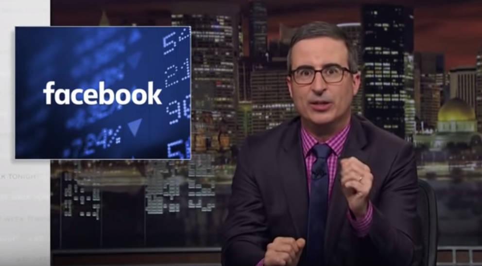 John Oliver nimmt Facebook unter die Lupe