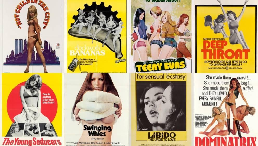 Nacktheit verboten auf YouTube: Gesammelte Plakate von Sexfilmen aus den 70ern