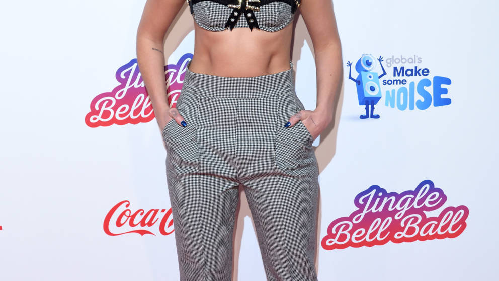LONDON, ENGLAND - DECEMBER 09:  Dua Lipa attends the Capital FM Jingle Bell Ball with Coca-Cola at The O2 Arena on December 9