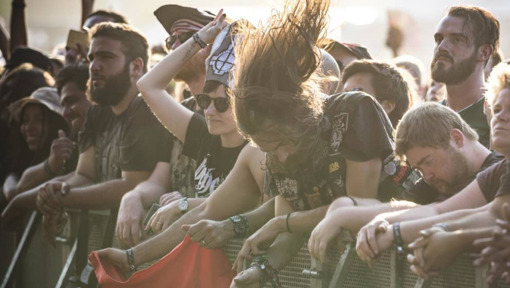 WACKEN, GERMANY - AUGUST 02: Fans celebrate the performance of the polnish band Behemoth performs live on stage during the Wa