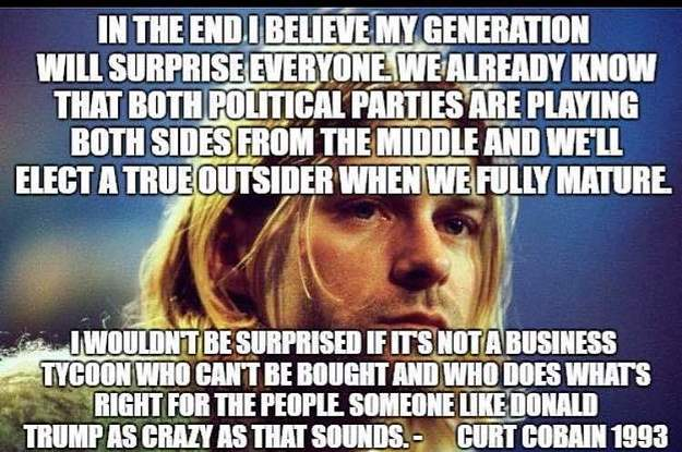 Fake-Zitat Von Kurt Cobain über Donald Trump Macht Rechte