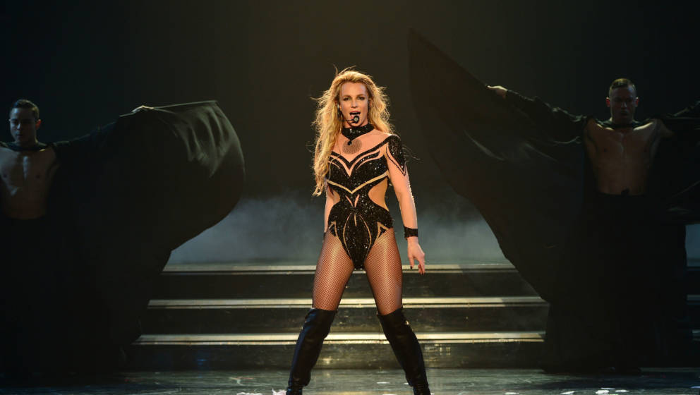 LAS VEGAS, NV - FEBRUARY 26:  (EXCLUSIVE COVERAGE) Britney Spears performs Britney Spears: Piece of Me Remixed. Reimagined. S