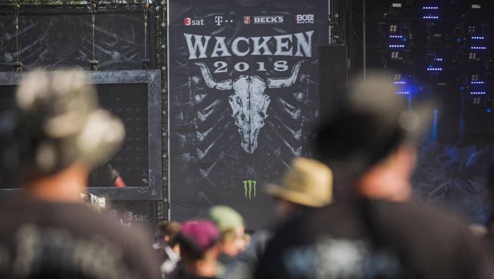WACKEN, GERMANY - AUGUST 02: General view of the Wacken Open Air festival on August 2, 2018 in Wacken, Germany. Wacken is a v