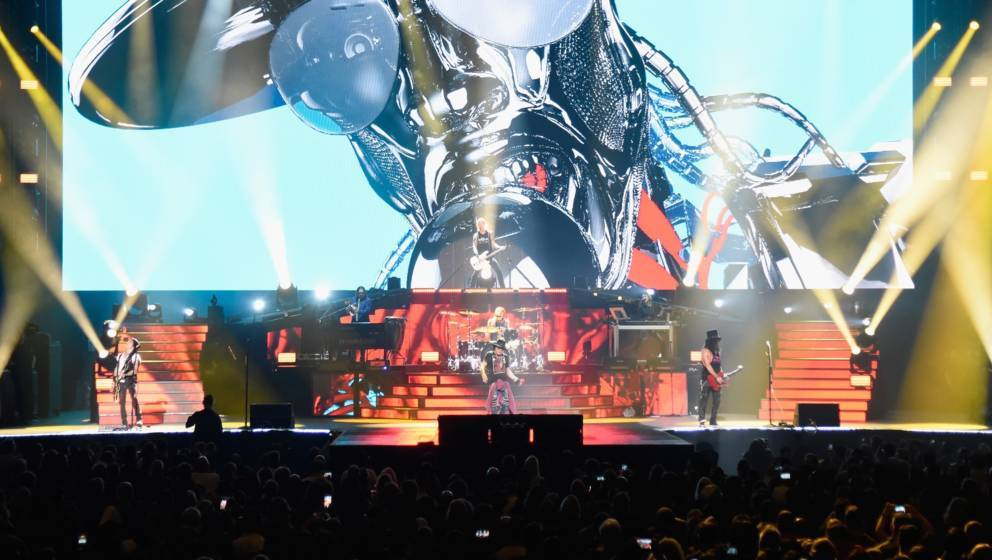 NEW YORK, NY - OCTOBER 11:  Guns N' Roses perform onstage during the 'Not In This Lifetime...' Tour  at Madison Square Garden