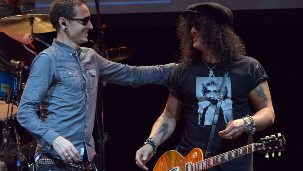 Chester Bennington und Slash live beim MusiCares MAP Fund Benefit Concert 2013