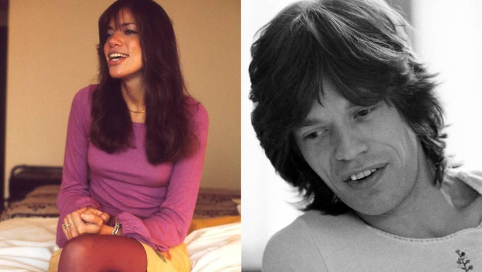 Carly Simon und Mick Jagger 1972