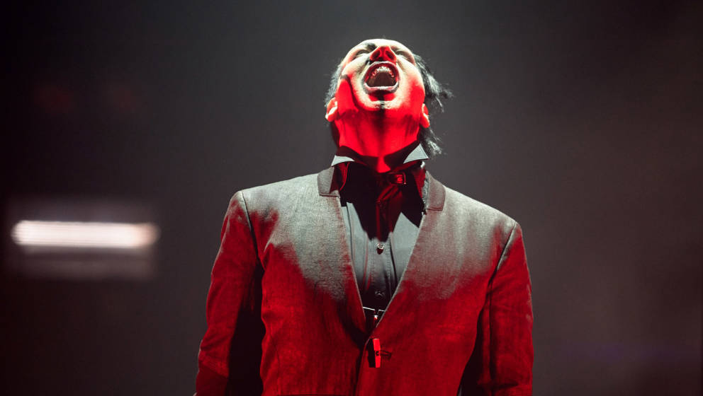 PRIOR LAKE, MN - FEBRUARY 6:  Musician Marilyn Manson performs on February 6, 2015 at Mystic Lake Hotel and Casino in Prior L