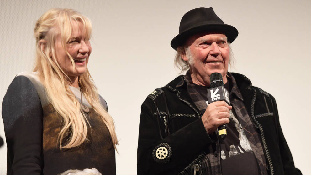 AUSTIN, TX - MARCH 15:  Daryl Hannah and Neil Young attend the 'Paradox' Premiere 2018 SXSW Conference and Festivals at Param