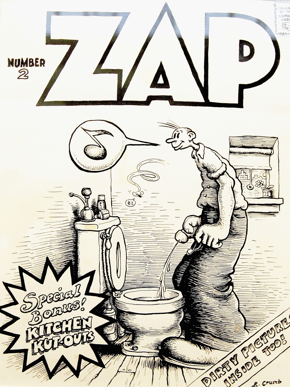 """Original-Illustration einer der ersten """"ZAP""""-Ausgaben"""