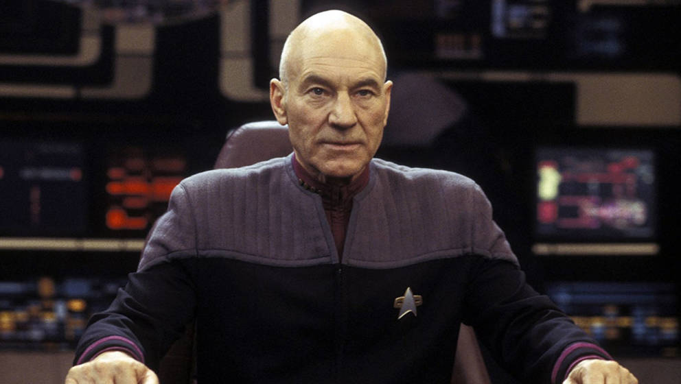 "Patrick Stewart als Captain Picard in ""Star Trek: Nemesis"""