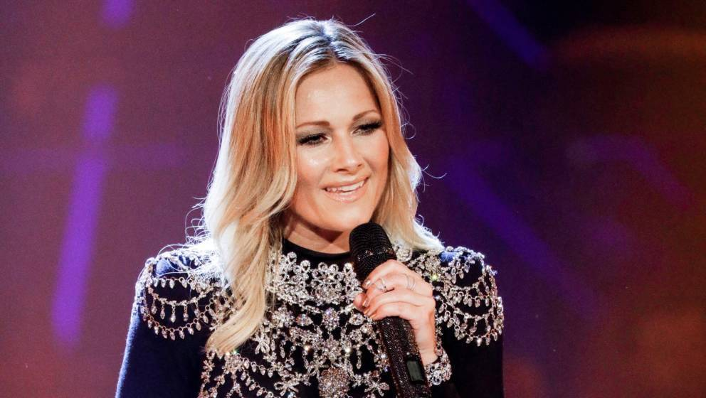 MUNICH, GERMANY - MARCH 17: German singer Helene Fischer during the tv show 'Heimlich! Die grosse Schlager-Ueberraschung' on