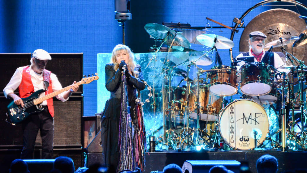 LONDON, ENGLAND - MAY 27:  ohn McVie, Stevie Nicks and Mick Fleetwood of Fleetwood Mac perform live at The O2 Arena on May 27