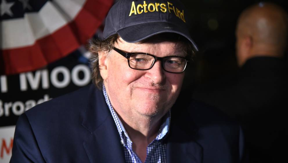 NEW YORK, NY - AUGUST 10:  Michael Moore attends 'The Terms Of My Surrender' Broadway Opening Night - After Party at Bryant P