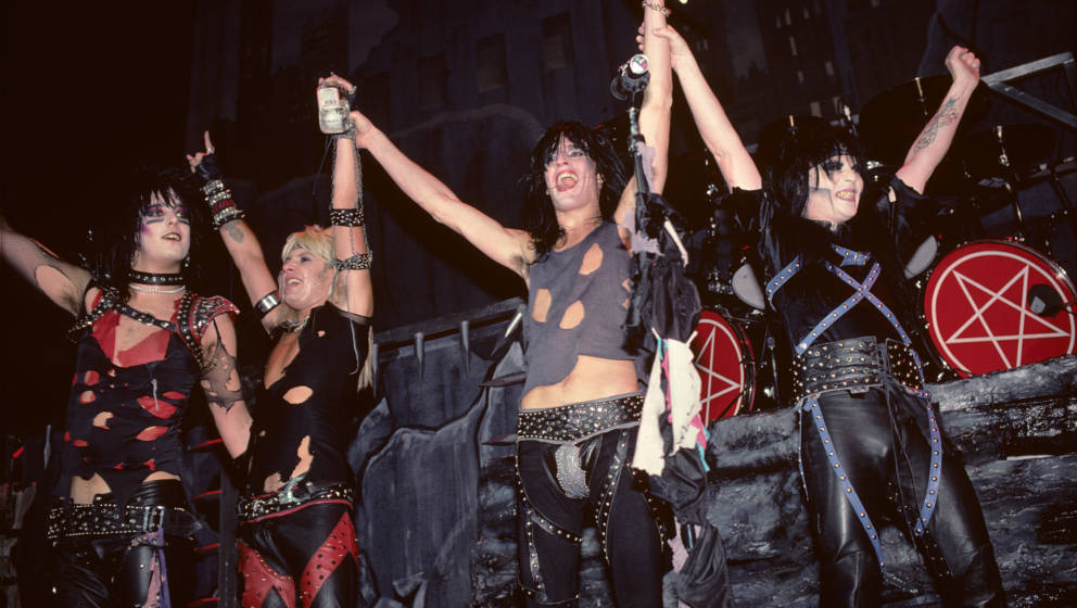 UNITED STATES - JANUARY 21:  BRENDAN BYRNE ARENA  Photo of MOTLEY CRUE and Nikki SIXX and Vince NEIL and Tommy LEE and Mick M