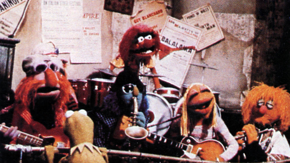UNSPECIFIED - circa 1970:  (AUSTRALIA OUT) Photo of MUPPETS; The Muppets house band, with Animal and Kermit the frog  (Photo