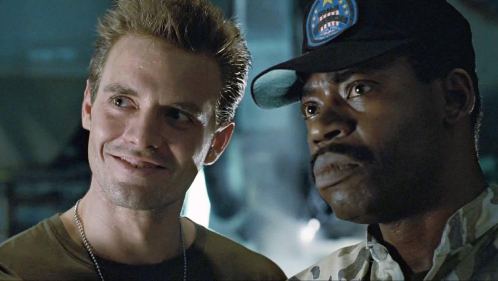 """Al Matthews (rechts) mit Michael Biehn in """"Aliens"""""""