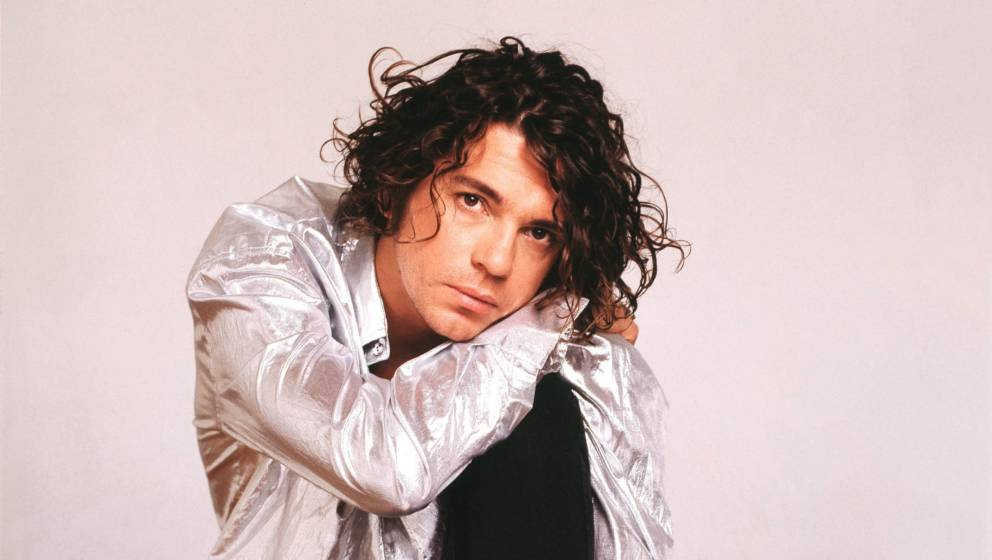 Michael Hutchence of INXS, studio portrait, London, 1990. (Photo by Michael Putland/Getty Images)