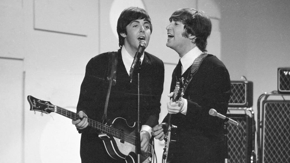 August 14, 1965  The Beatles appear on The Ed Sullivan Show.  Copyright CBS Broadcasting, Inc., All Rights Reserved, Credit: