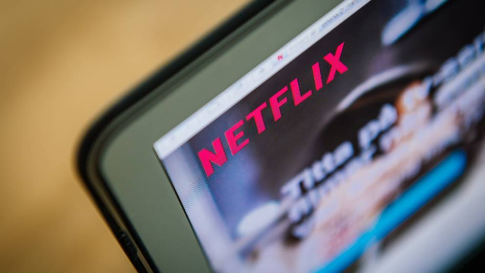 This picture taken on September 11, 2014 shows the on-demand internet streaming media provider, Netflix, on a laptop screen i