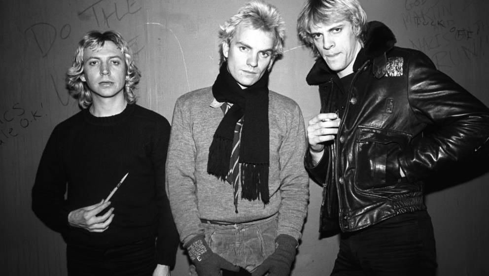 CANADA - NOVEMBER 02:  HORSESHOE TAVERN  Photo of STING and Stewart COPELAND and POLICE and Andy SUMMERS, backstage at the Ho
