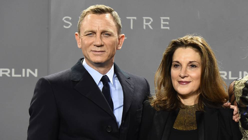 (From L) British actor Daniel Craig, US producer Barbara Broccoli, British actress Naomie Harris and Austrian actor Christoph
