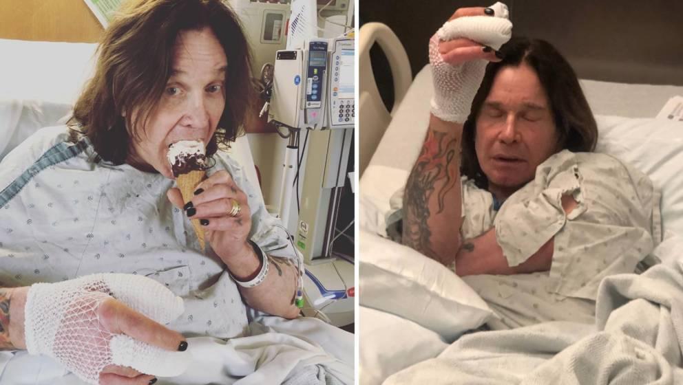 Ozzy Osbourne muss sich nach einer Not-Operation an der Hand schonen