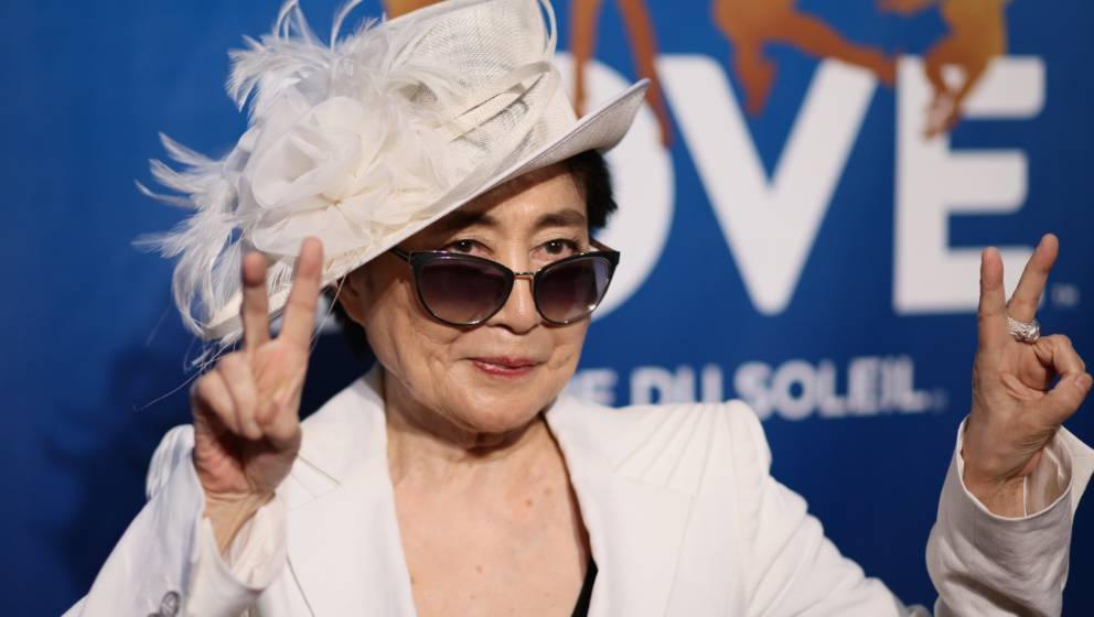 LAS VEGAS, NV - JULY 14: Yoko Ono attends the 10th anniversary celebration of 'The Beatles LOVE by Cirque du Soleil' at The M